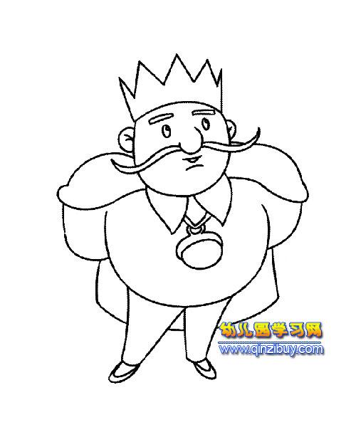 要出征的国王简笔画2