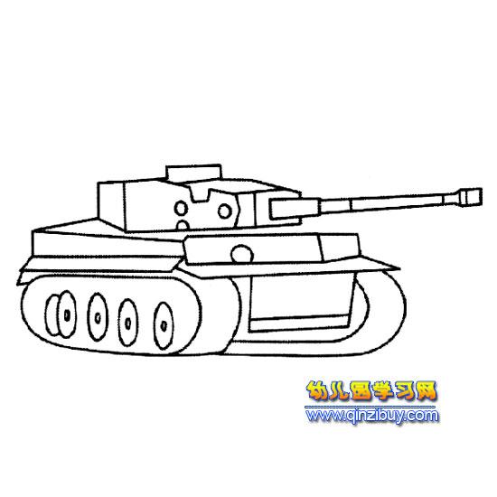 幼儿简笔画图坦克内容图片展示 幼儿简笔画图坦克图片下载