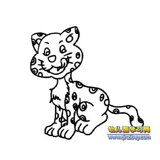 幼儿园教案网 简笔画 动物 >> 正文  [图文]蹲坐着的小豹简笔画3 &