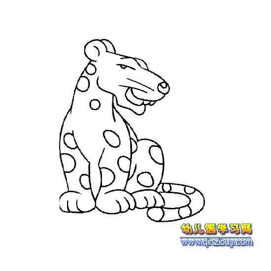 回头看的豹子简笔画2