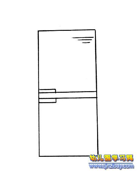 简笔画:一台冰箱3-幼儿园教案网