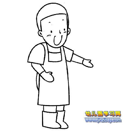 厨师简笔画人物头像_图片大全
