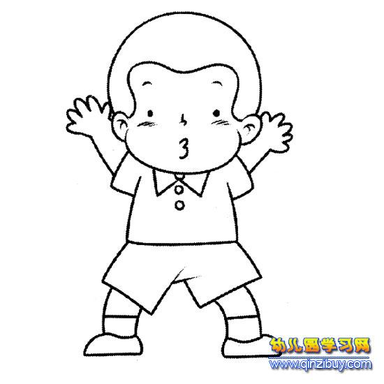 简笔画 搞笑的小男孩5
