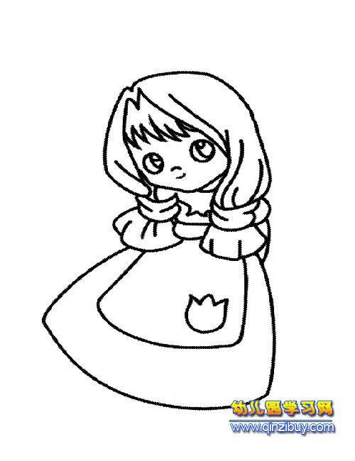 可爱的新娘简笔画2