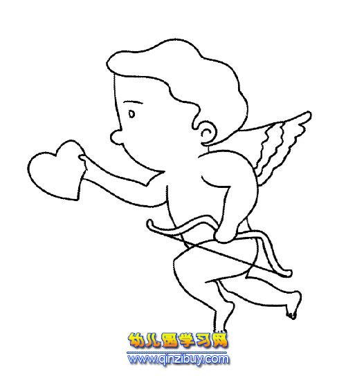 爱情天使简笔画—幼儿园教案网