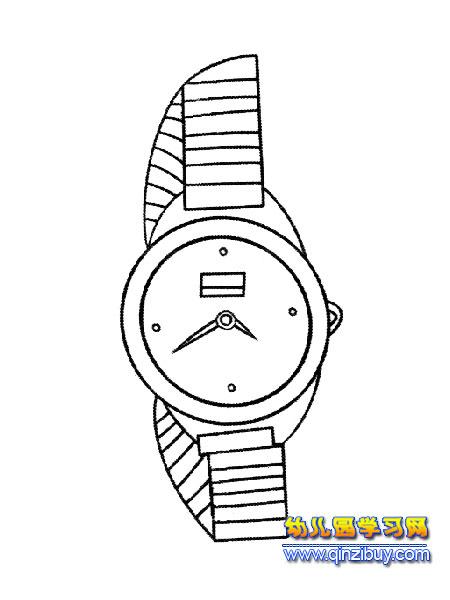 男式手表简笔画4—幼儿园学习网