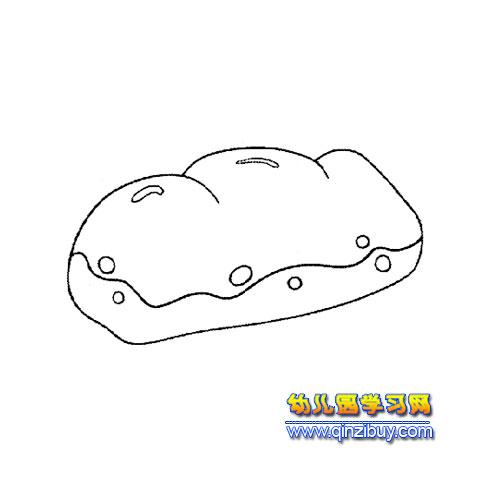 简笔画 面包1