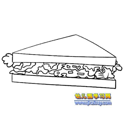 夹心面包简笔画1