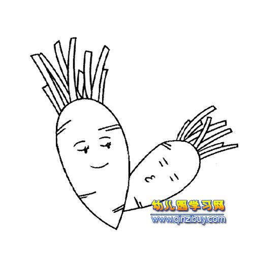 简笔画:卡通萝卜1—幼儿园教案网