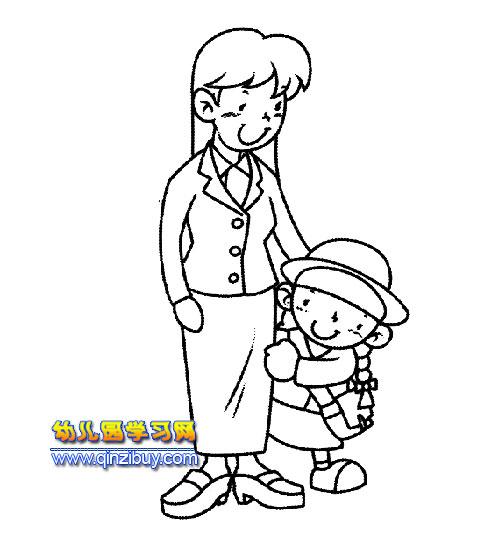 幼儿园教师节简笔画内容图片展示_幼儿园教师节简