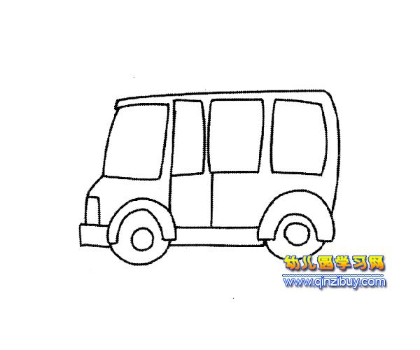 小型公交车简笔画1—幼儿园教案网