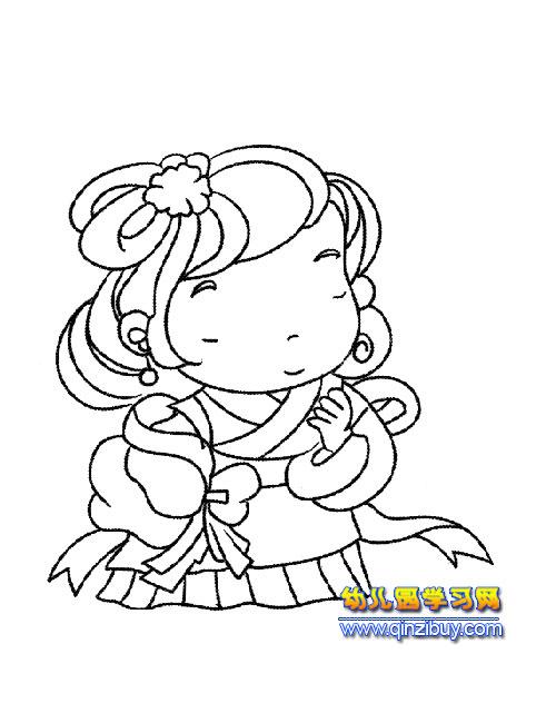 古代新娘 简笔画 2幼儿园教案网