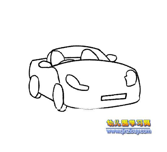 简笔画:敞篷汽车5—幼儿园教案网