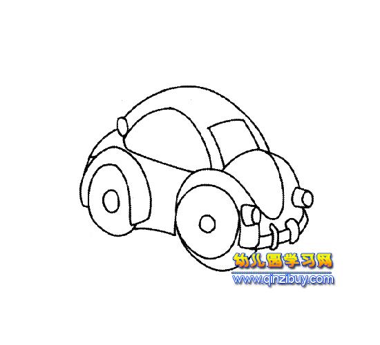 简笔画(小型汽车)1—幼儿园教案网