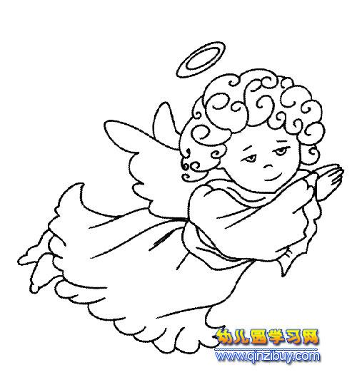 西方世界天使简笔画3