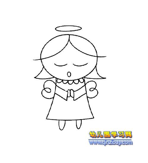 手绘小清新祈祷