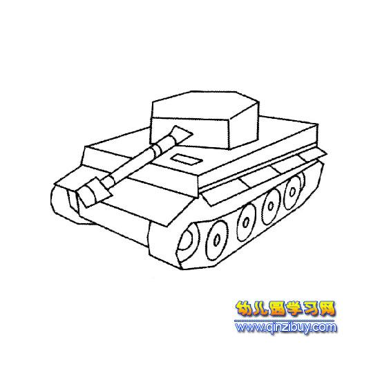 简笔画 一辆坦克2
