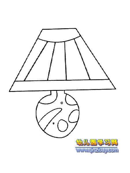 花瓶式台灯简笔画2—幼儿园教案网