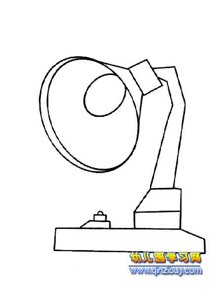 日用品简笔画:台灯2-幼儿园教案网图片
