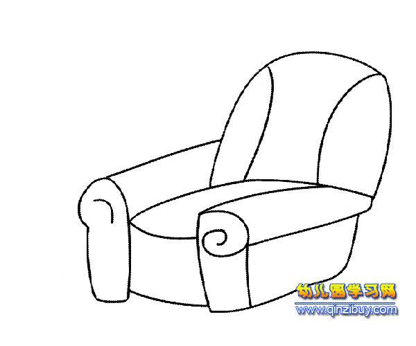 单人沙发简笔画3