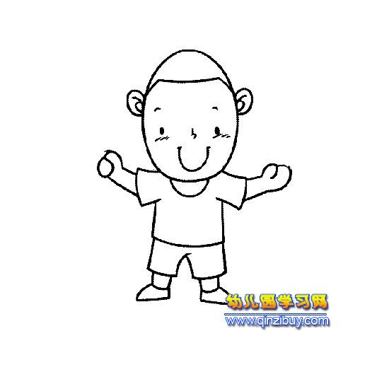简笔画 搞笑的小男孩4