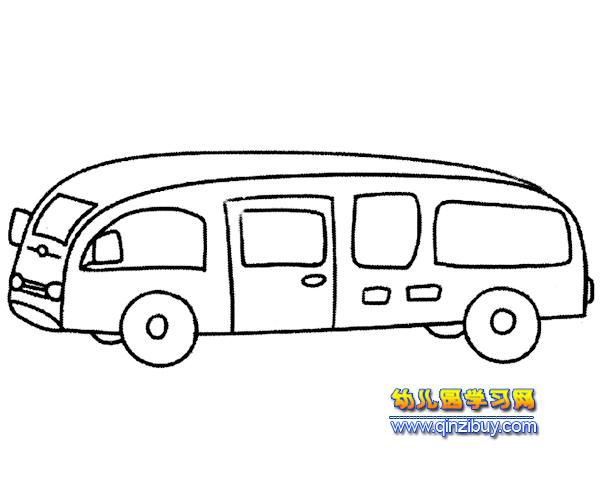 豪华公交车简笔画2