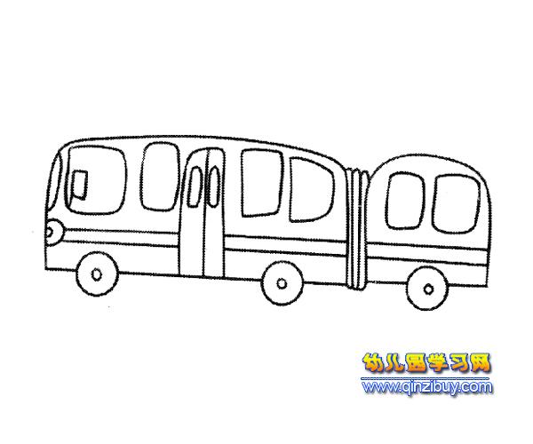 简笔画:长形公交车3—幼儿园教案网
