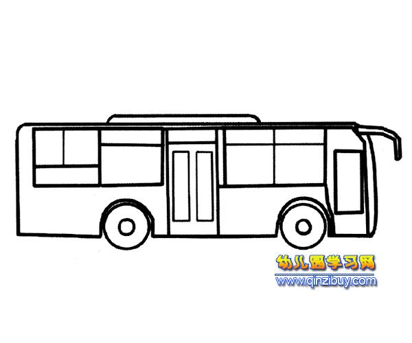 大班简笔画教案公交车