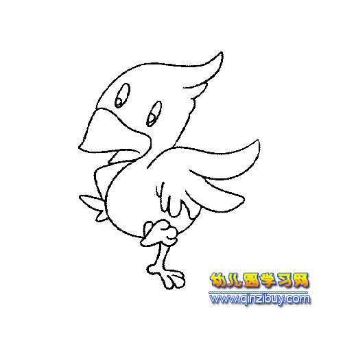小小啄木鸟简笔画3