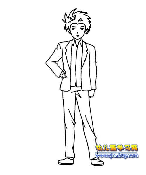 帅气的王子简笔画5