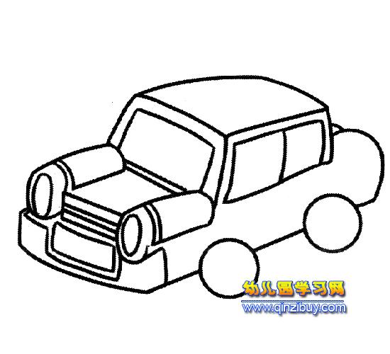 古代汽车简笔画4—幼儿园教案网