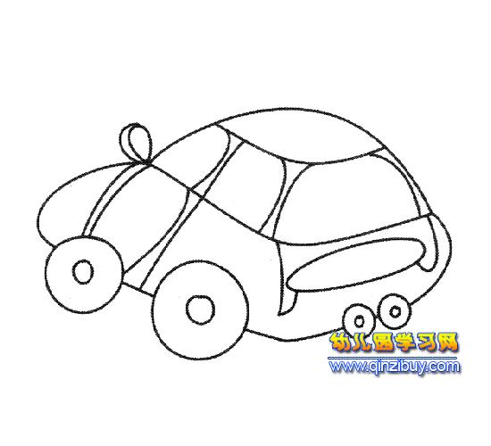 简笔画(小型汽车)5—幼儿园教案网