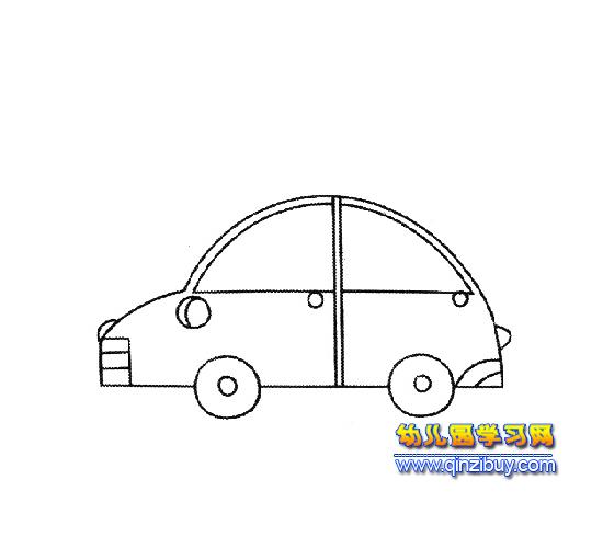 简笔画:儿童坐的小汽车2—幼儿园教案网图片