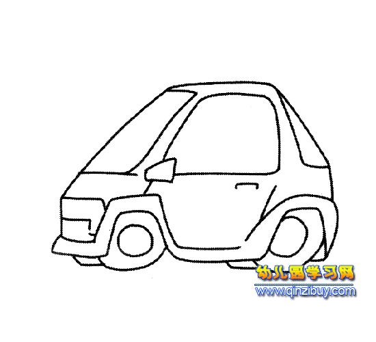 汽车简笔画:面包车2—幼儿园教案网