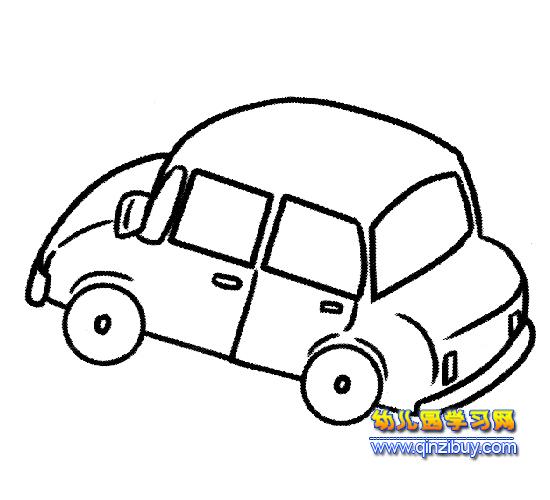 交通工具简笔画(小汽车)1-幼儿园教案网