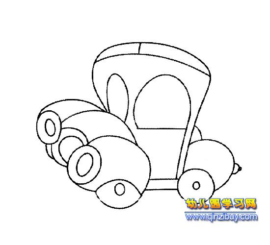 圆形汽车简笔画2—幼儿园教案网