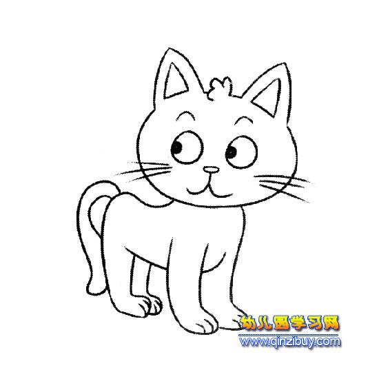 design 小猫图画大全 黑马素材网  儿童简易可爱图画_画可爱的小白兔