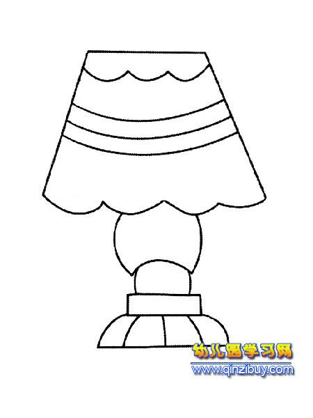 花瓶式台灯简笔画4