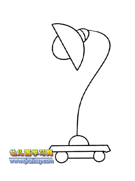 简笔画:古代煤油灯3 幼儿园学习网