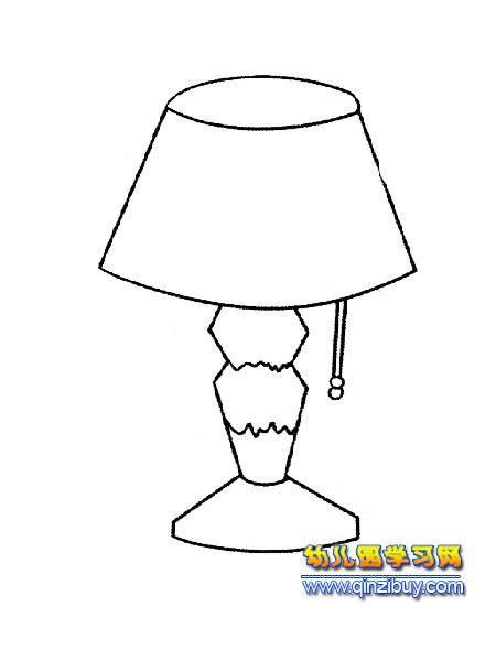 漂亮的台灯简笔画3