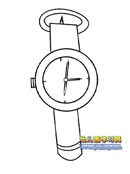 简笔画:一块手表4—幼儿园教案网图片