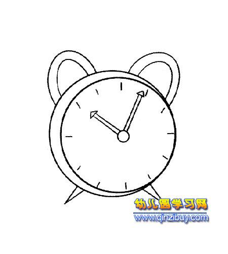 简笔画:熊耳朵闹钟2; 耳朵简笔画图片; 卡通闹钟简笔画图片图片