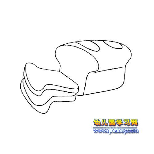 简笔画:面包3—幼儿园教案网