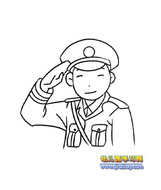 简笔画_八路军抗战英雄简笔画_八路军打日本简笔画