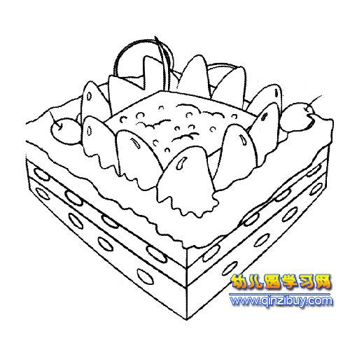 芒果蛋糕简笔画