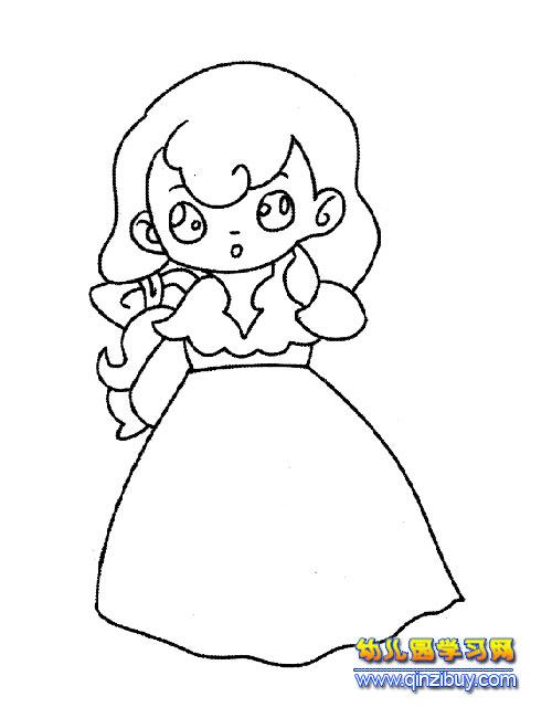 简笔画:故事中的新娘4—幼儿园教案网