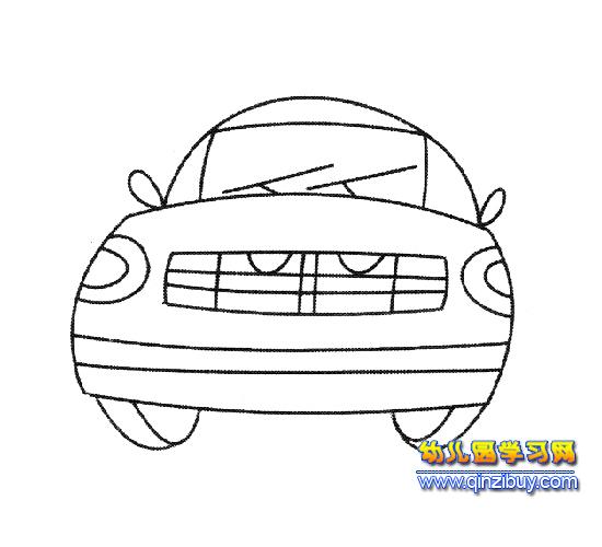 简笔画:现代汽车1—幼儿园教案网