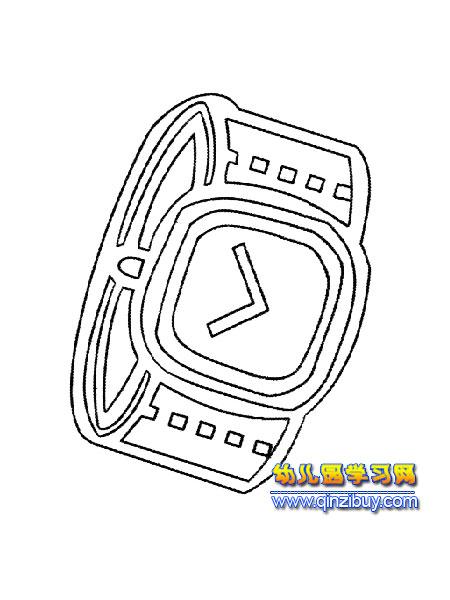 男式手表简笔画1—幼儿园教案网