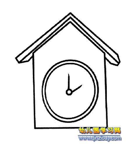 房子闹钟简笔画2—幼儿园教案网
