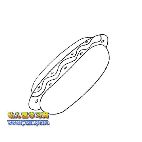 火腿面包简笔画1
